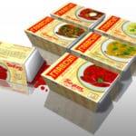 картонная упаковка для роллов